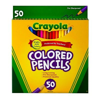 Crayola 50ct Colored Pencils Assorted Colors Crayola Colored
