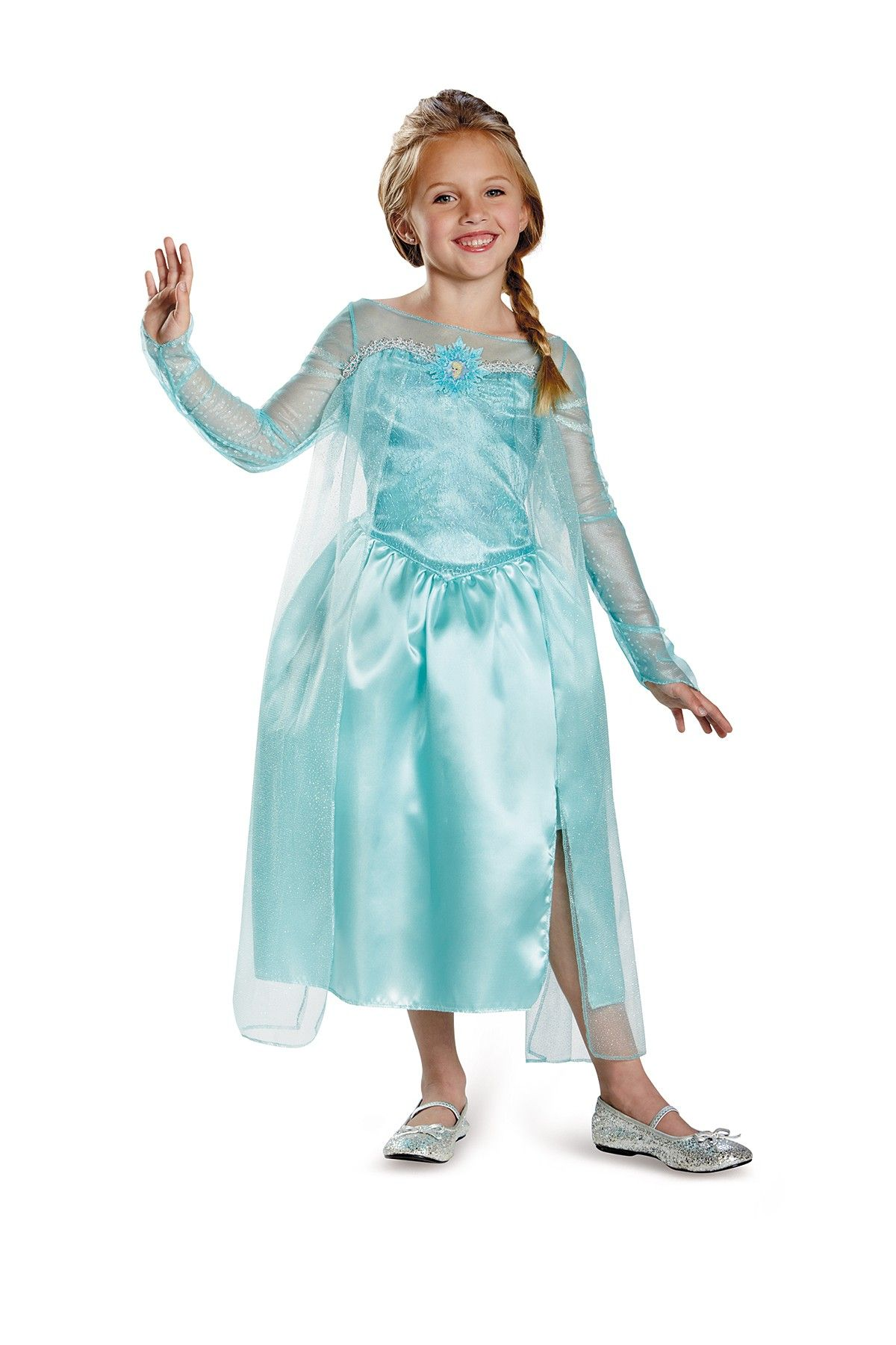 Frozen elsa classic gown toddler little girls big girls snow queen