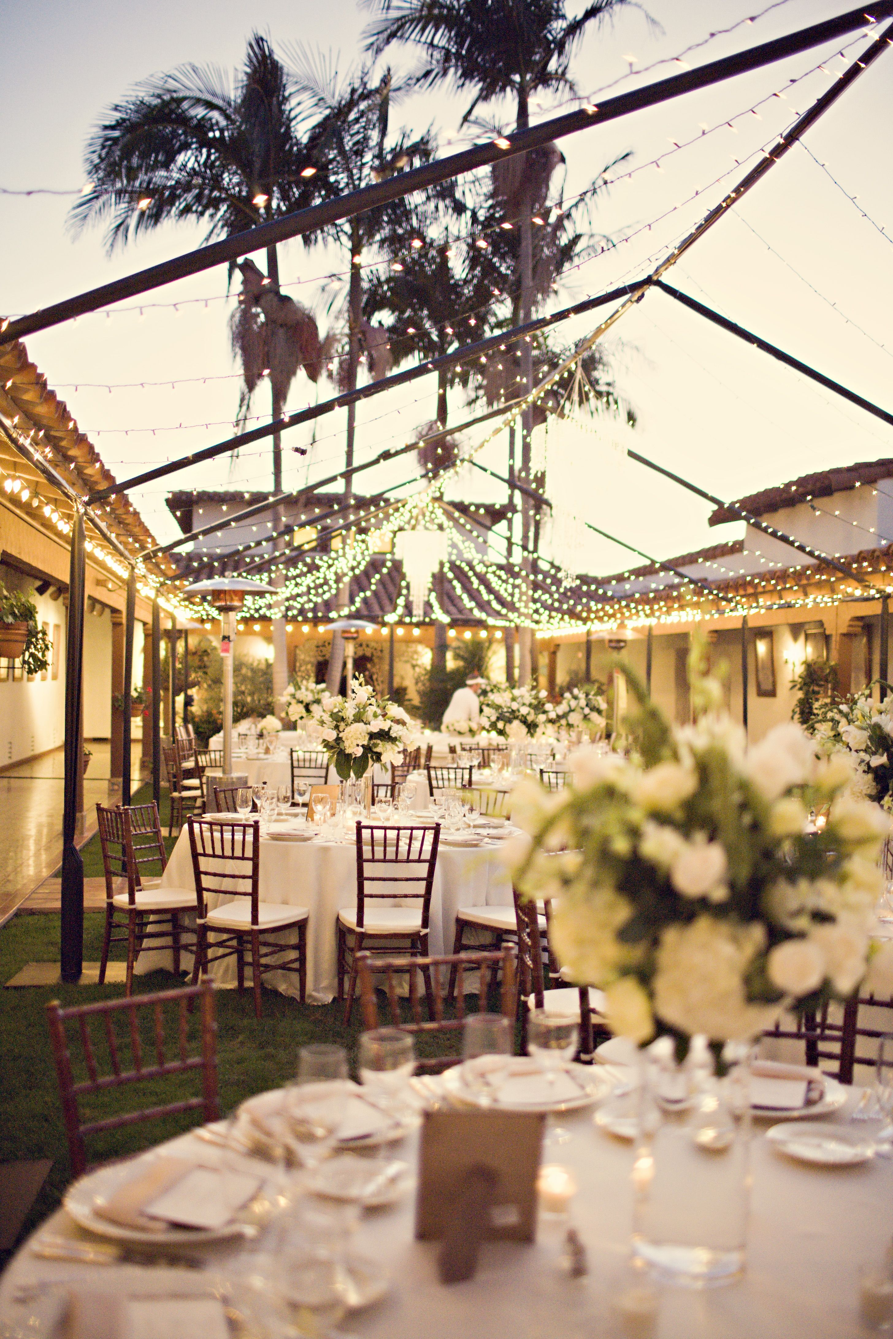 beautiful tent with lights Wedding venues beach