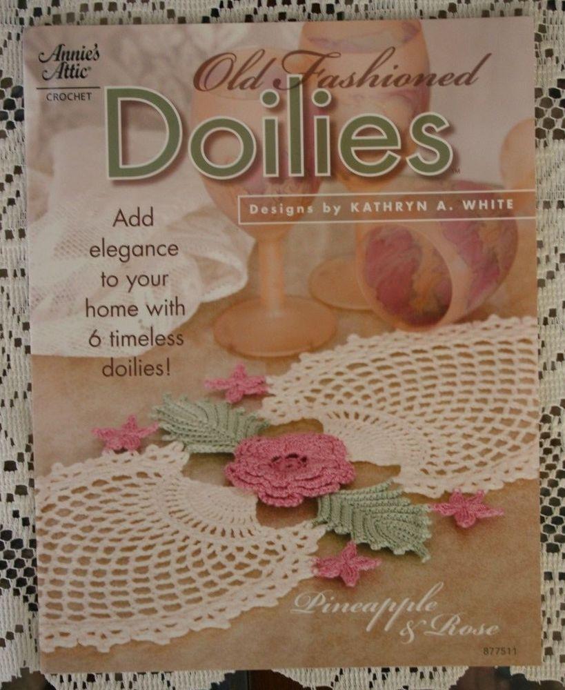 Annies Attic Crochet Leaflet Booklet Old Fashioned Doilies 6 Patterns EUC # AnniesAttic