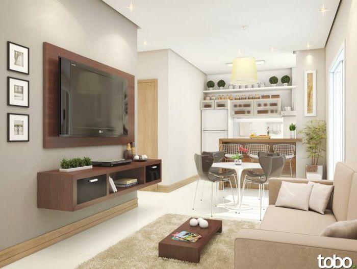 Decoracion de sala comedor y cocina en un mismo ambiente for Decoracion apartamentos pequenos modernos 2017