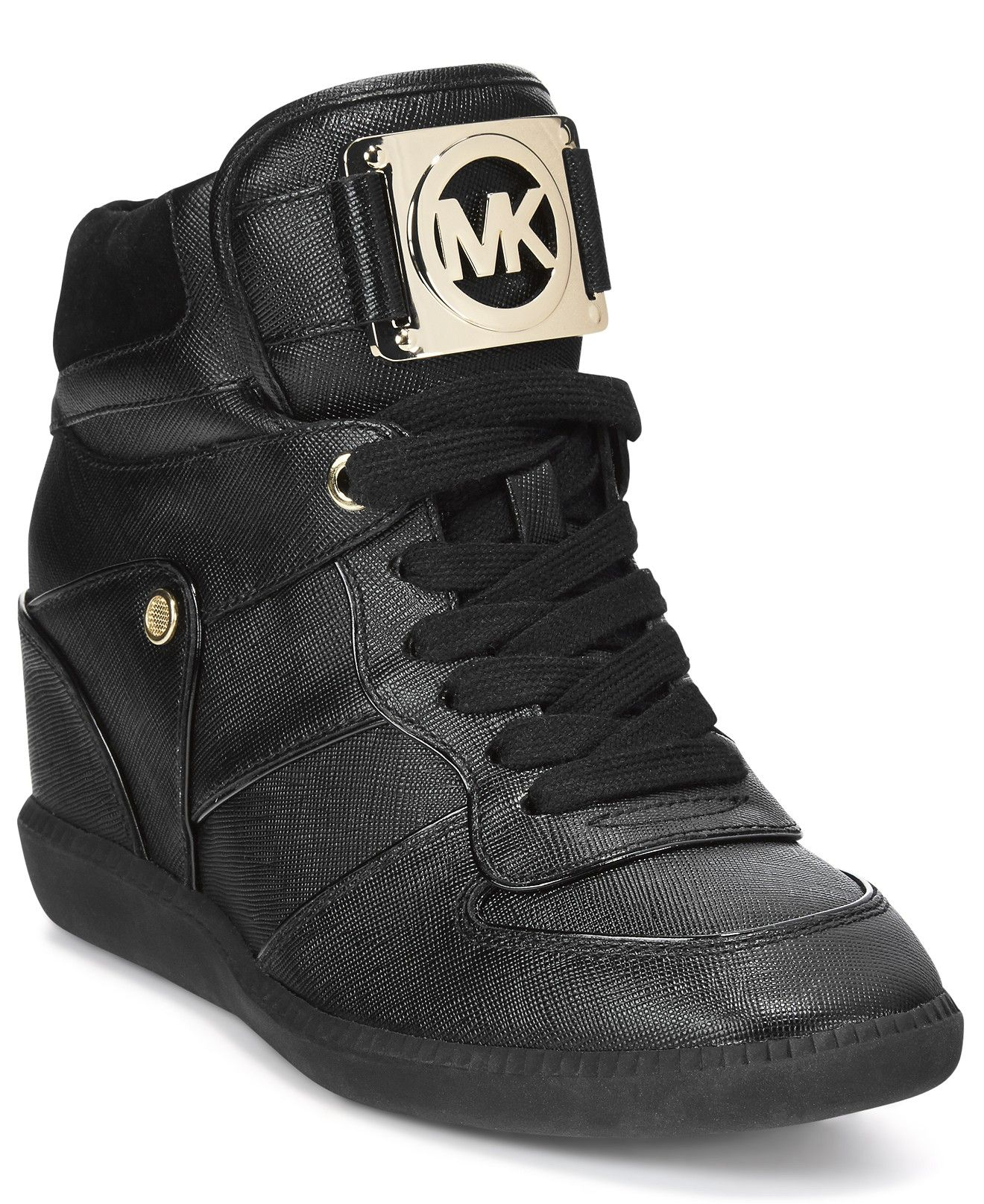 62498071ba999 MICHAEL Michael Kors Nikko Lace-Up High-Top Wedge Sneakers - All Women s  Shoes - Shoes - Macy s