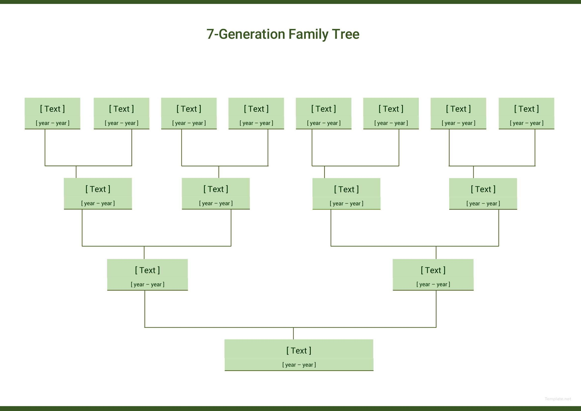 Seven Generation Family Tree Template Free Pdf Google Docs Word Apple Pages Template Net Family Tree Template Excel Family Tree Template Word Family Tree Template