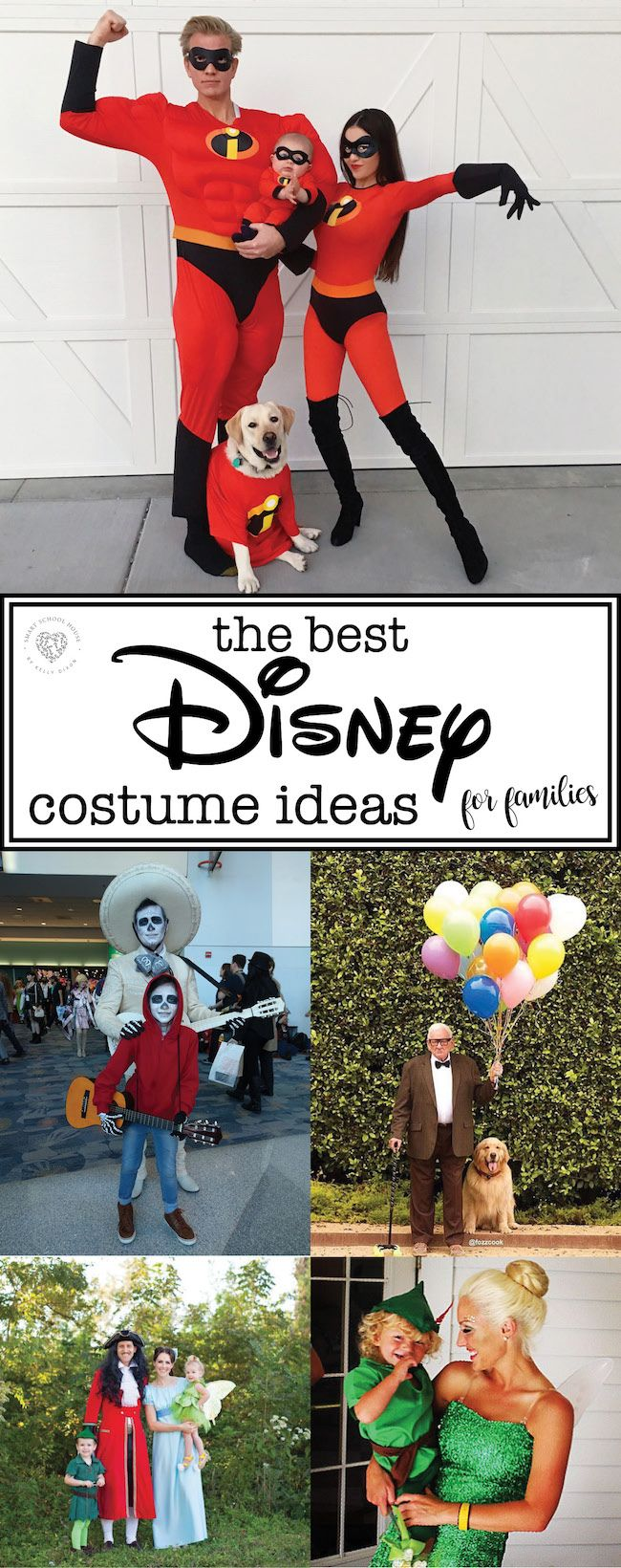 Disney Halloween Costume Ideas for Families is part of Disney halloween costumes - Disney Halloween Costume Ideas for Families  Family costume ideas for Hotel Transylvania, Up, The Incredibles, Coco, Ratatouille, Inside Out, and more!