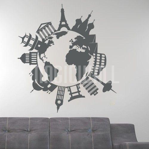 World Travel Landmarks and Monuments Wall Decal is customizable and removable. We use the best quality material to manufacture our wall decals. & Earth Wall Mural For Living And Meeting Rooms Here you can find a ...