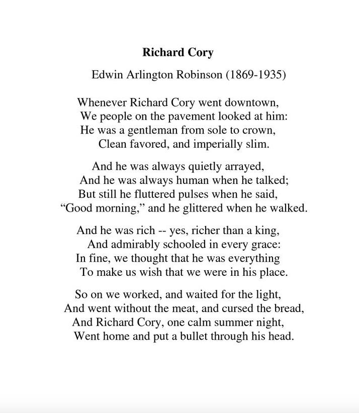 richard cory theme