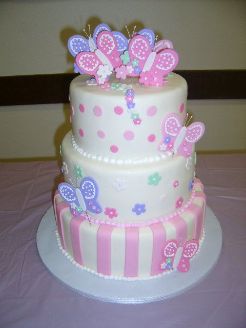 Delightful Butterfly Baby Shower Cakes | Baby Shower