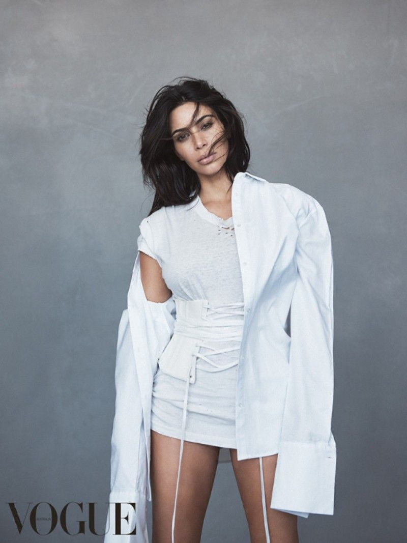 ♥ Kim Kardashian, Vogue Australia, June 2016