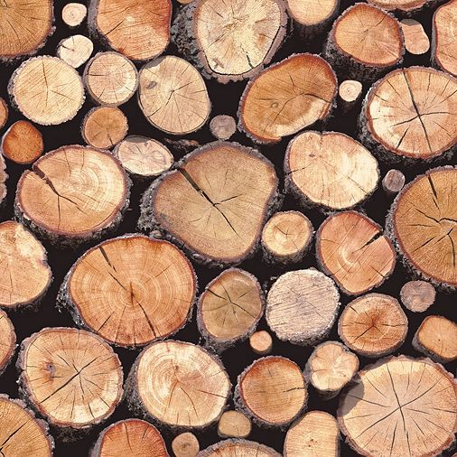 Tesco Direct Stacked Logs Wallpaper Natural 97710 Log Wallpaper Rustic Wood Wallpaper Wood Iphone Wallpaper