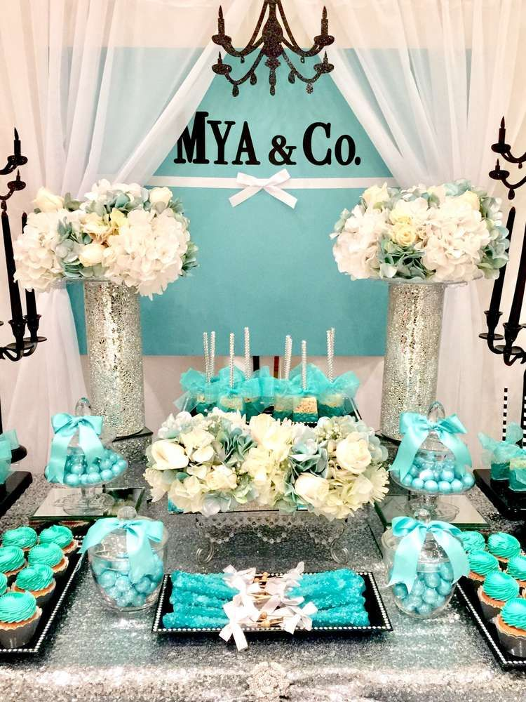 Tiffany Co Baby Shower Party Ideas In 2019 Entertaining And
