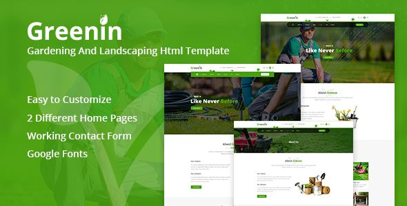 Greenin Gardening And Landscaping HTML Template Lawn Service Best Templates Html Tree