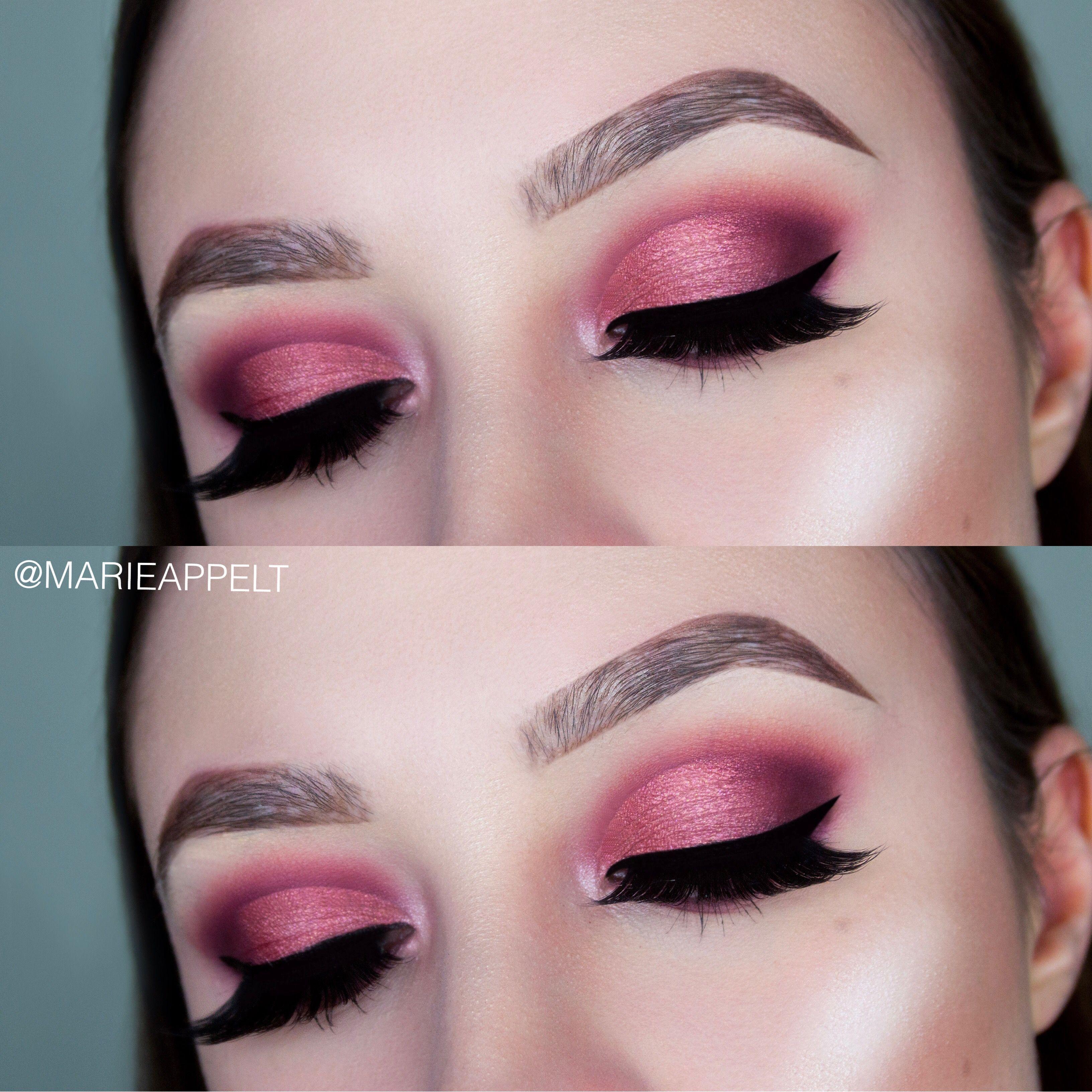 Huda Beauty Mauve Obsession Palette Makeup Tutorial, mauve makeup ...