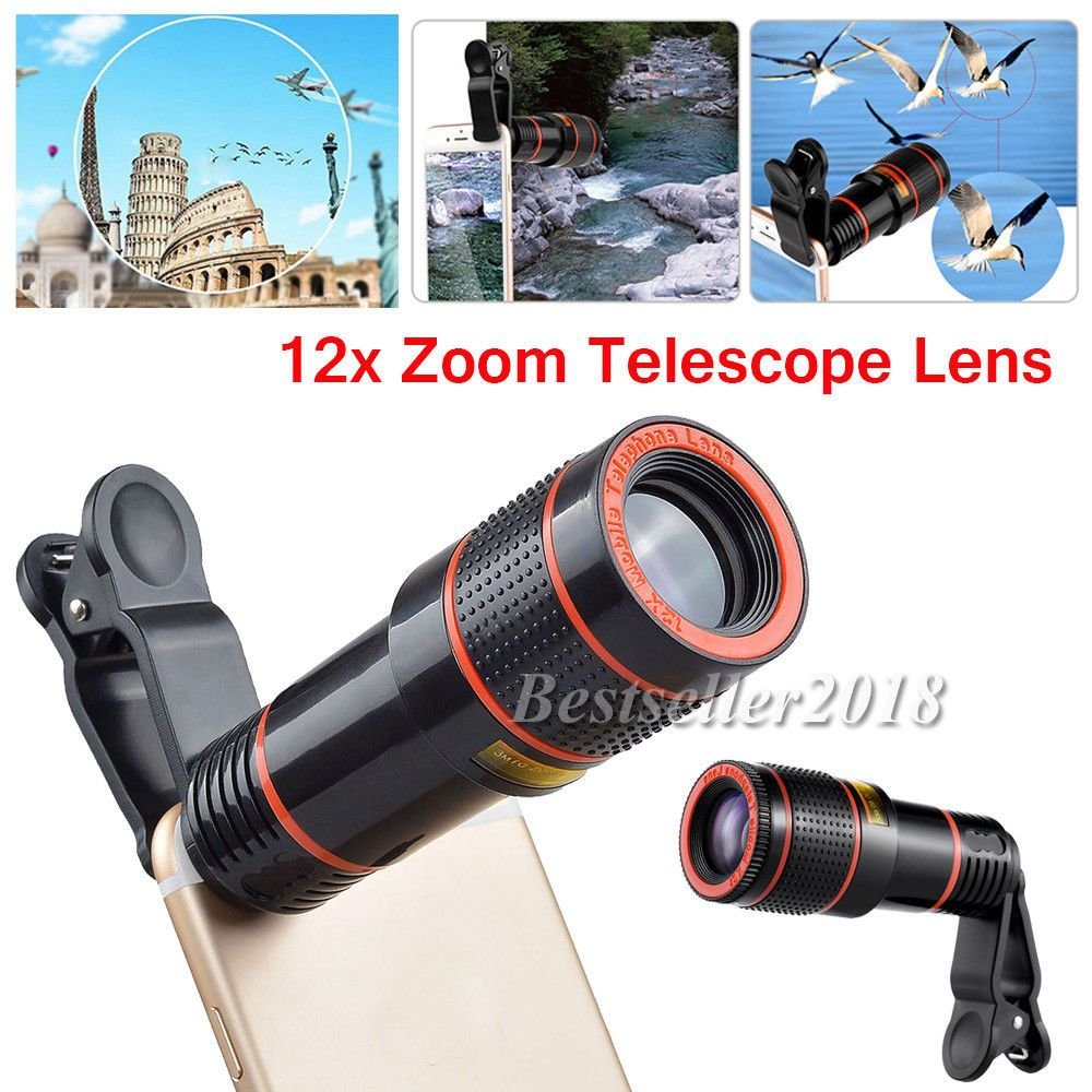 12X Zoom Optical ClipOn Hd Telescope Cell Phone Camera