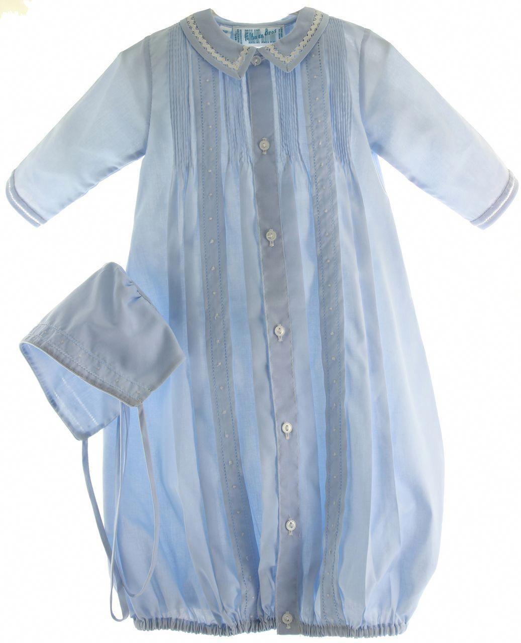 c05159757 Hiccups Childrens Boutique - Newborn Boys Blue Heirloom Gown