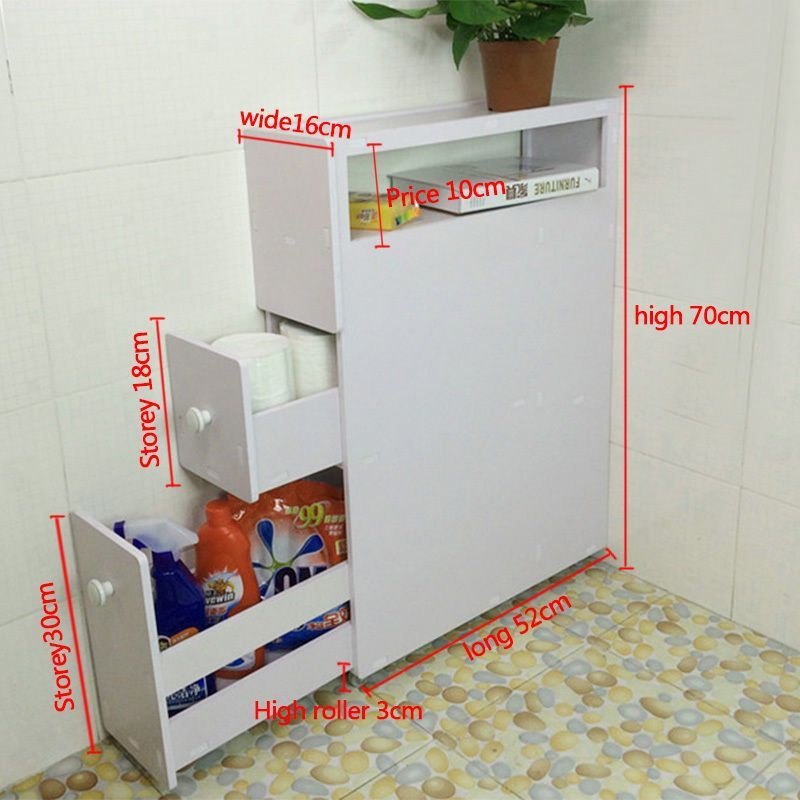 Bathroom Storage Cupboard Wood Slim Bathroom Storage Cupboard Thin Cabinet Unit White Slimline Dekorasi Rumah Dekorasi Rumah Buatan Sendiri