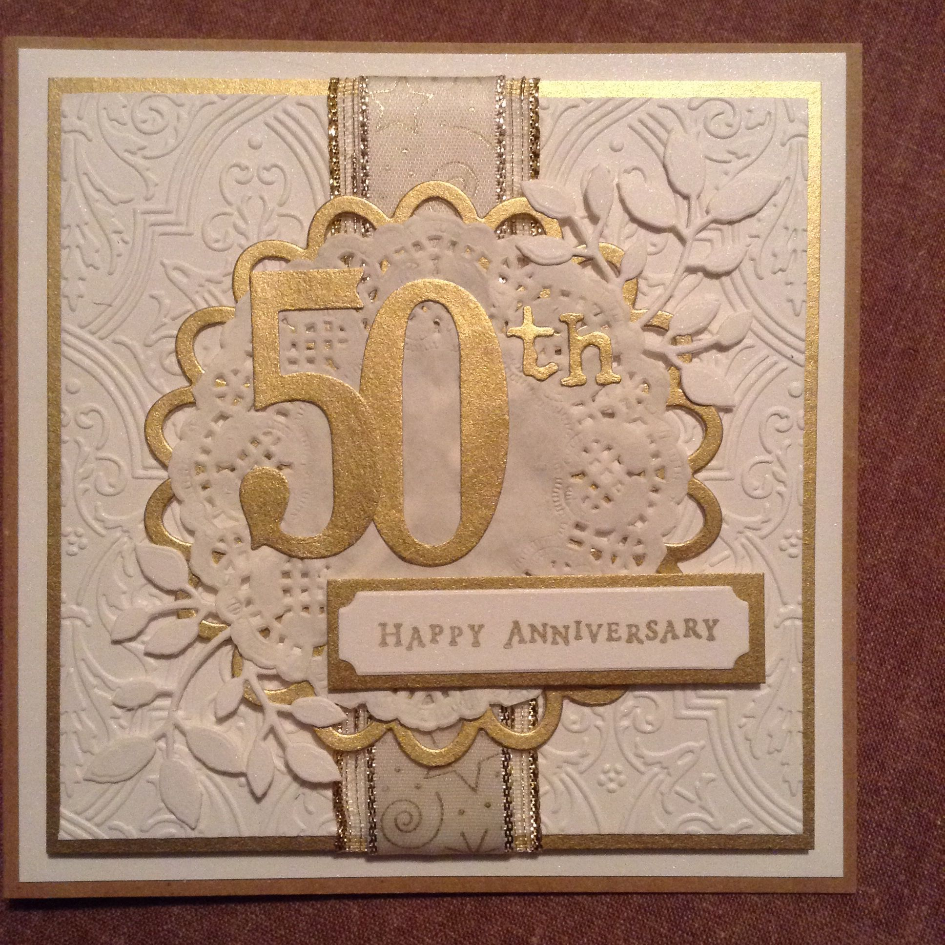 50th wedding anniversary card by gilly haigh cards for 50 th wedding anniversary gifts
