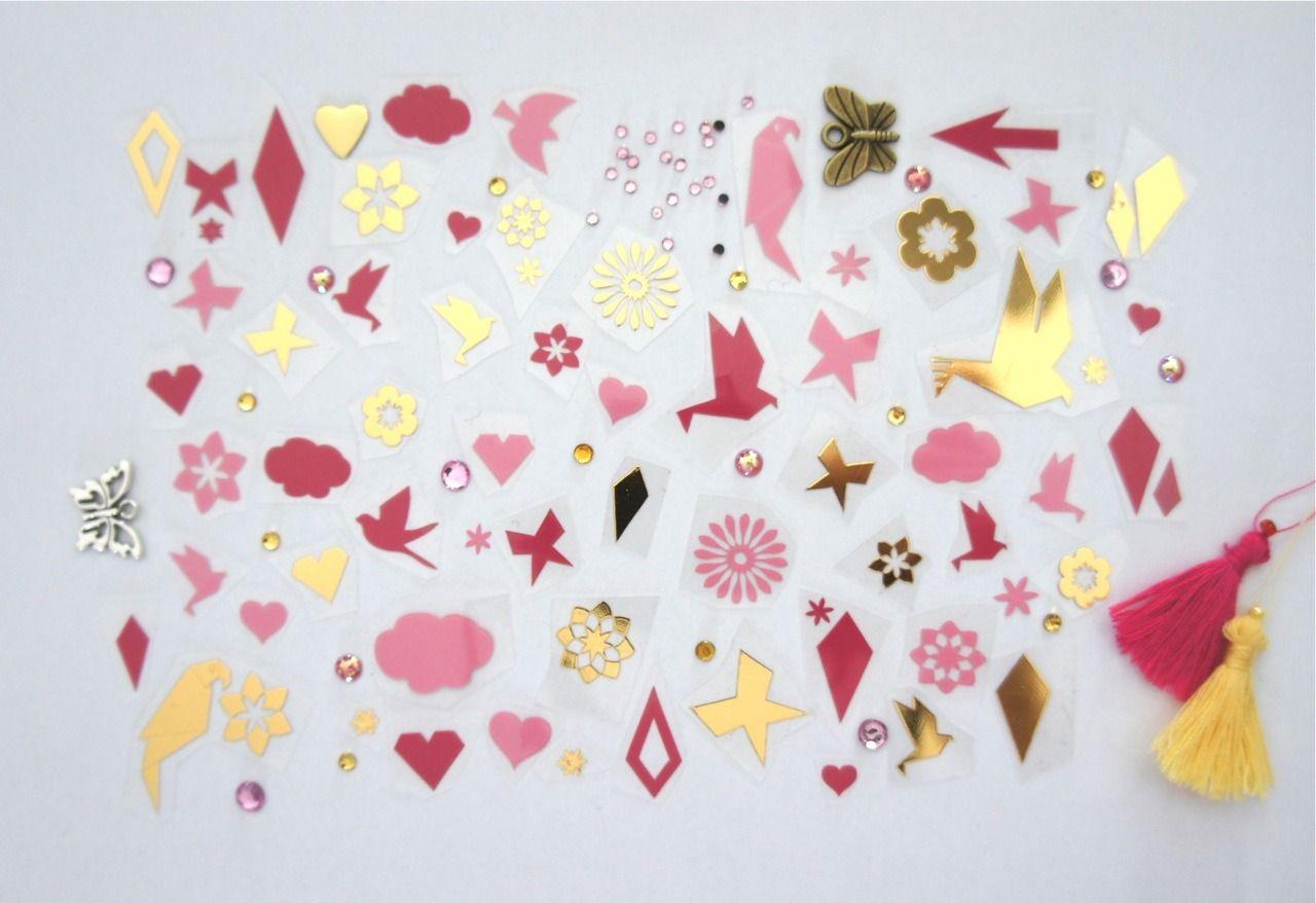 Kit 110 motifs thermocollants pour textiles