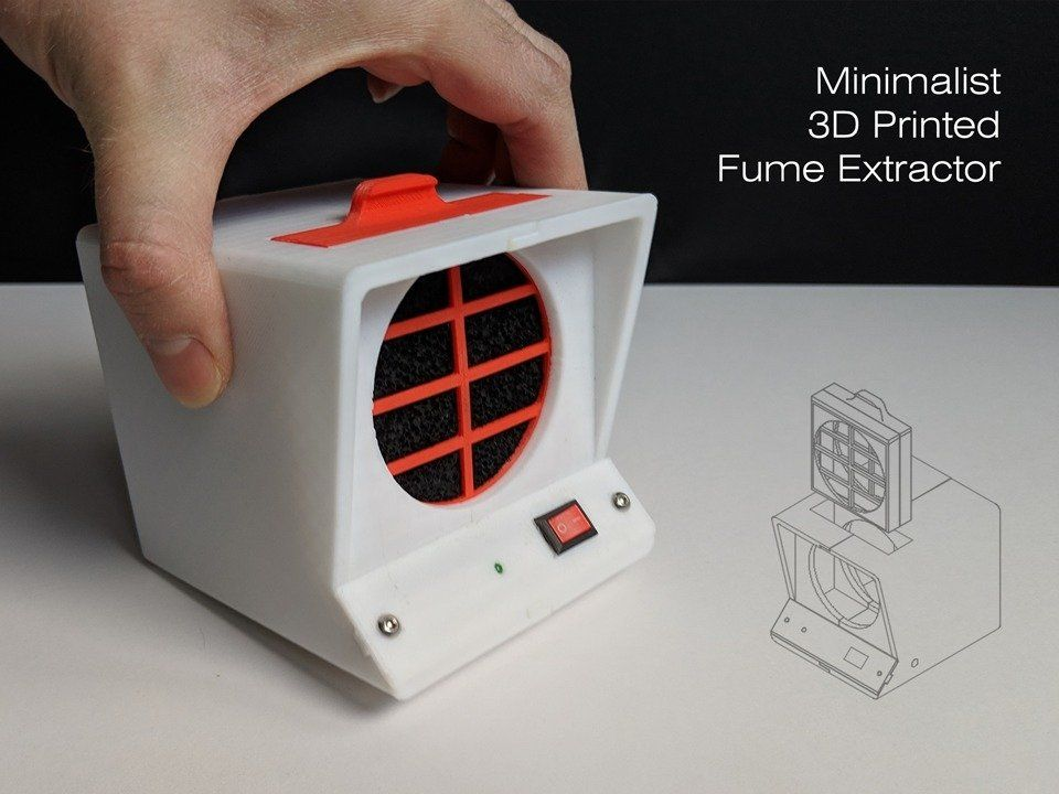 Minimalist 3d printed fume extractor by rdmmkr