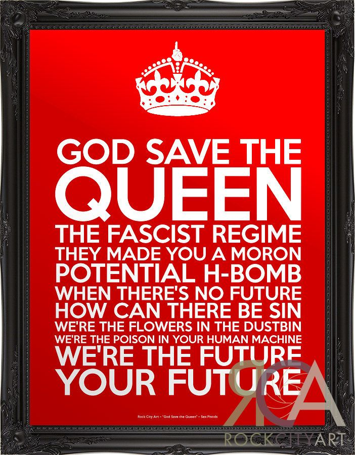 Sex pistols god save the queen lyric