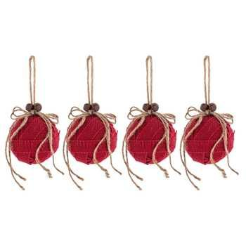 Small Decorative Bells Interesting Small Red Burlap Ball Ornaments With Bells & Bow  Hobby Lobby Review