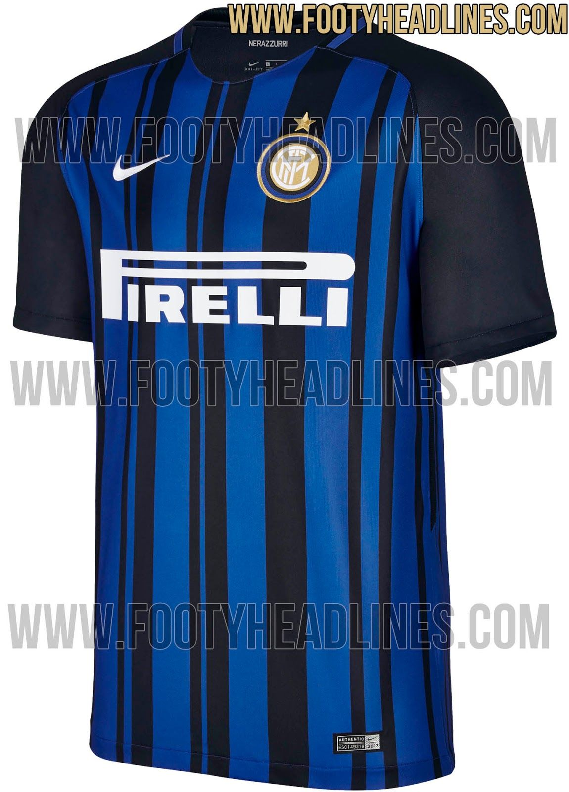 sneakers for cheap 501a8 0ba9f The Inter Milan 17-18 home kit introduces a never-seen ...