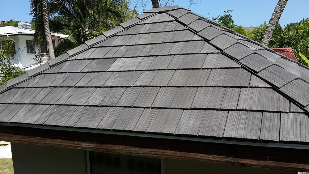 Enviroshingle Composite Roofing: recycled polymer resembling
