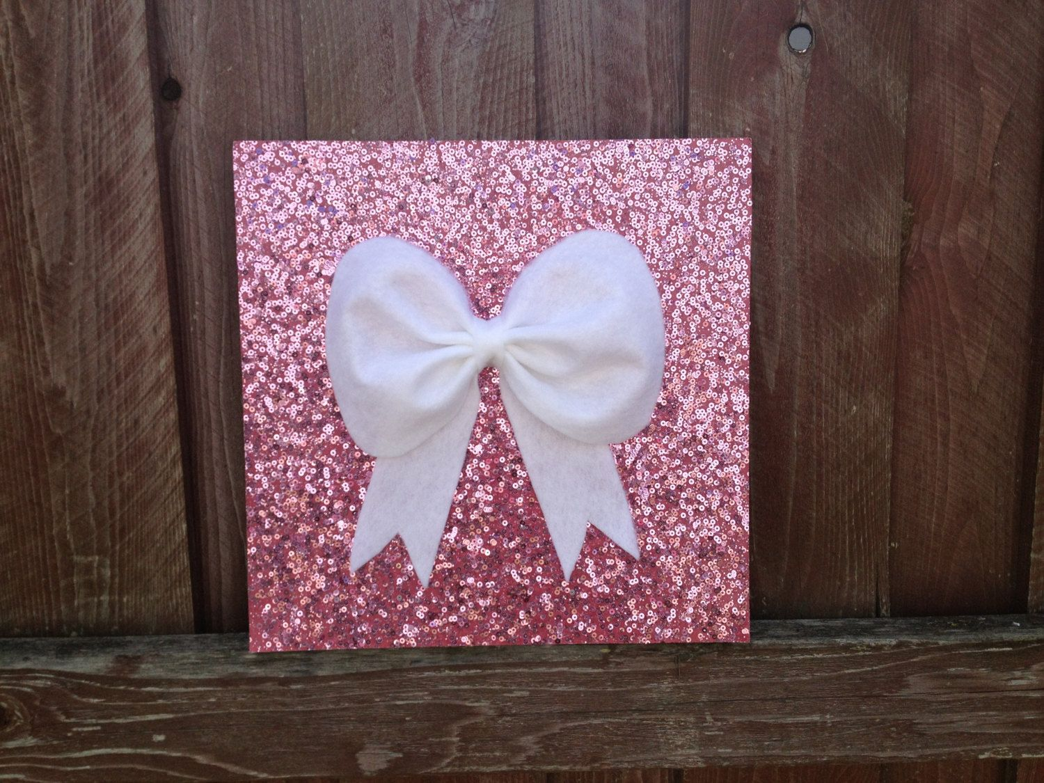 Items Similar To Pink Sequence Bow Wall Hanging Decor Decoration Room Children S On Etsy