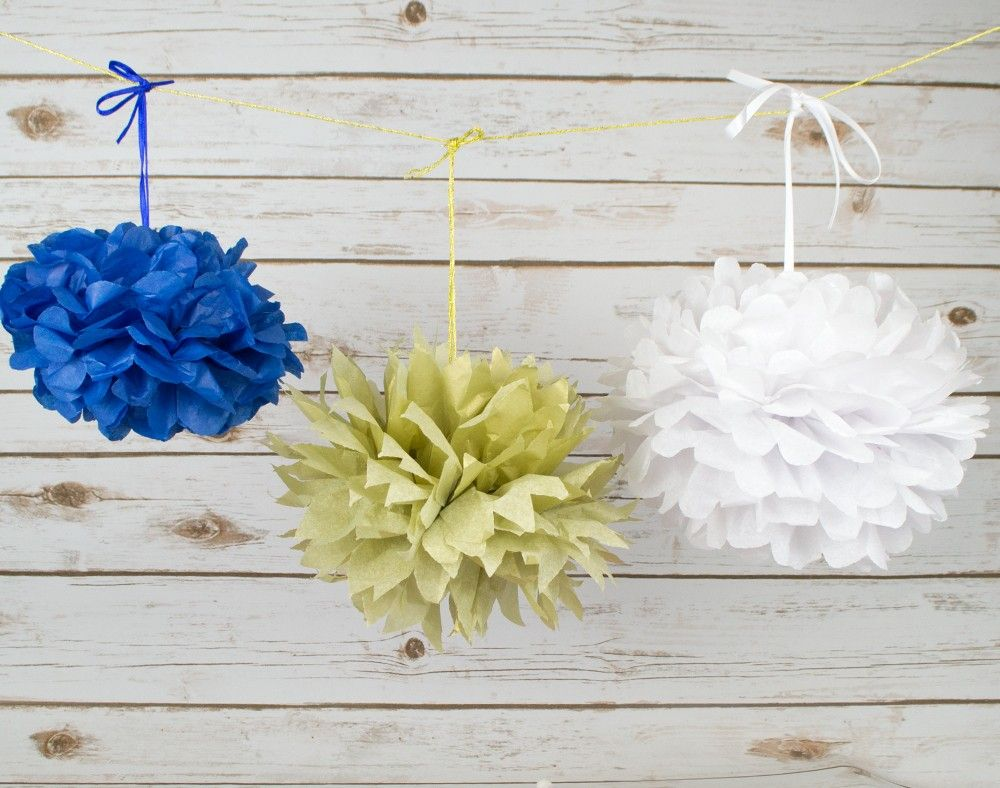 How To Make Tissue Paper Pom Pom Decorations Crafts With Paper