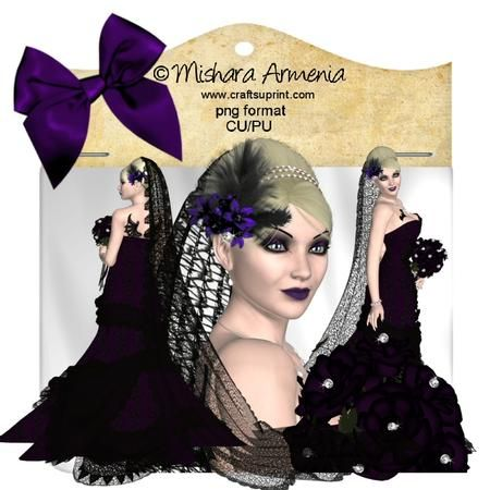 Vampirela bride2 on Craftsuprint designed by Mishara Armenia - �Mishara Armenia Commercial and personal use ok / CU4CU. Don't resell them in their original form (as poser tubes). Don't claim my work as yours. These tubes can be resized and recolored. - Now available for download!