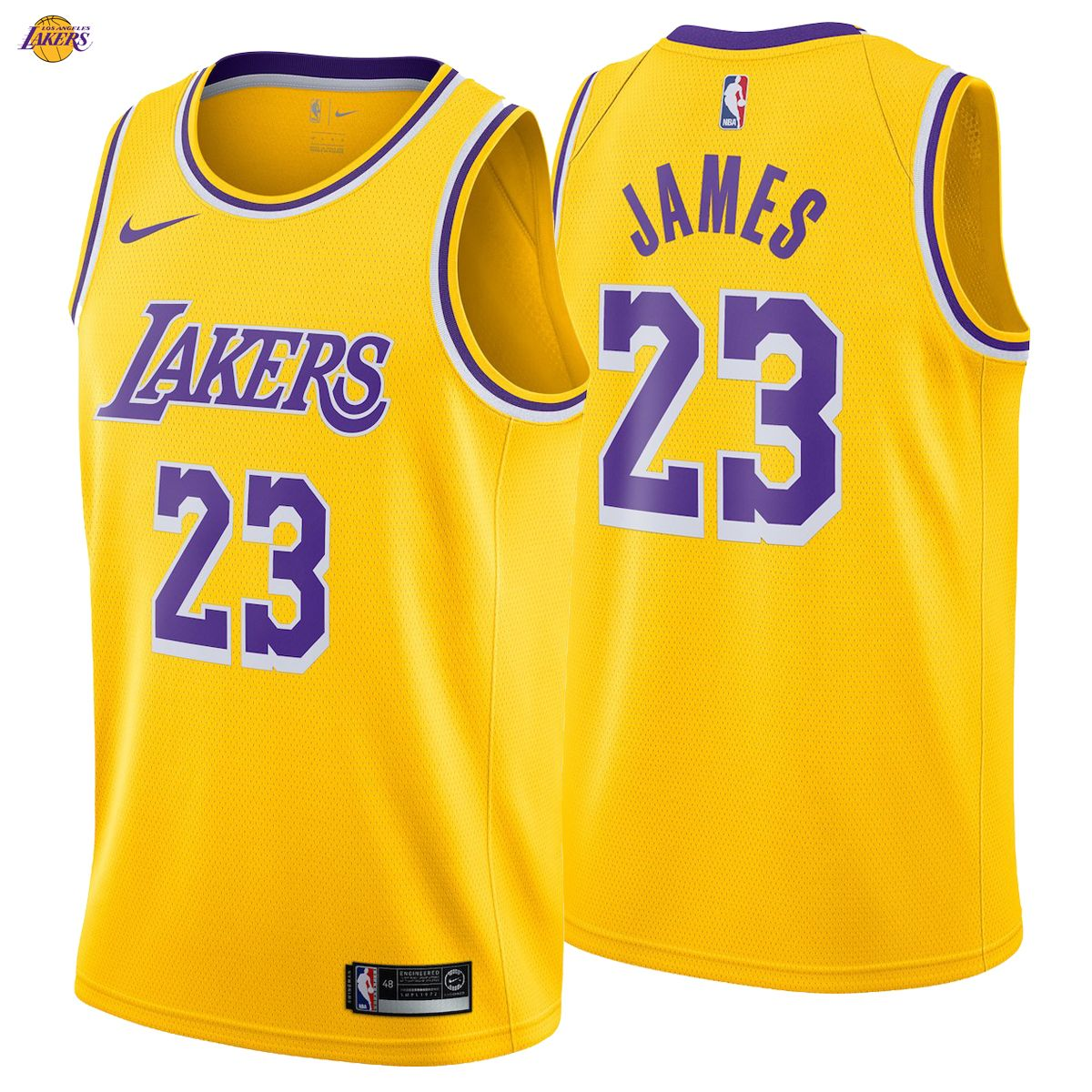 0d3a938e5d2 LeBron James 23 Los Angeles Lakers Nike Swingman Jersey 2018 19 Icon  Edition King NBA NWT Directly inspired by Nike s Authentic jersey