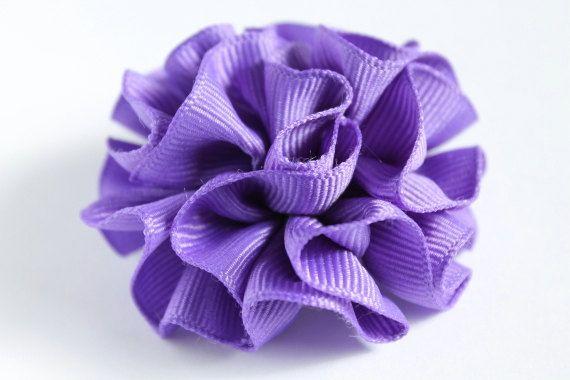 Dark purple flower hair clip toddler hair by LayersandFrills, $3.99