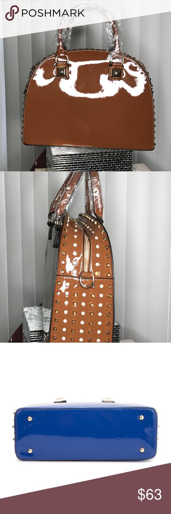 a15d479fe6 Dasein Patent Leather Rhinestone Fashion Handbag 💕💕SUMMER CLOSET MARKDOWN  💕💕 Dome zip around