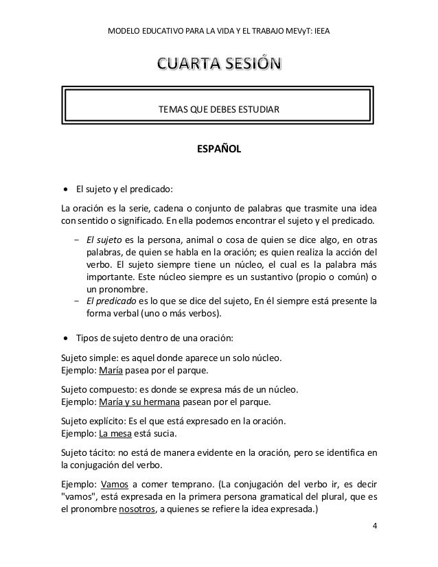 MODELO EDUCATIVO PARA LA VIDA Y EL TRABAJO MEVyT IEEA 4 TEMAS QUE - harvard style resume