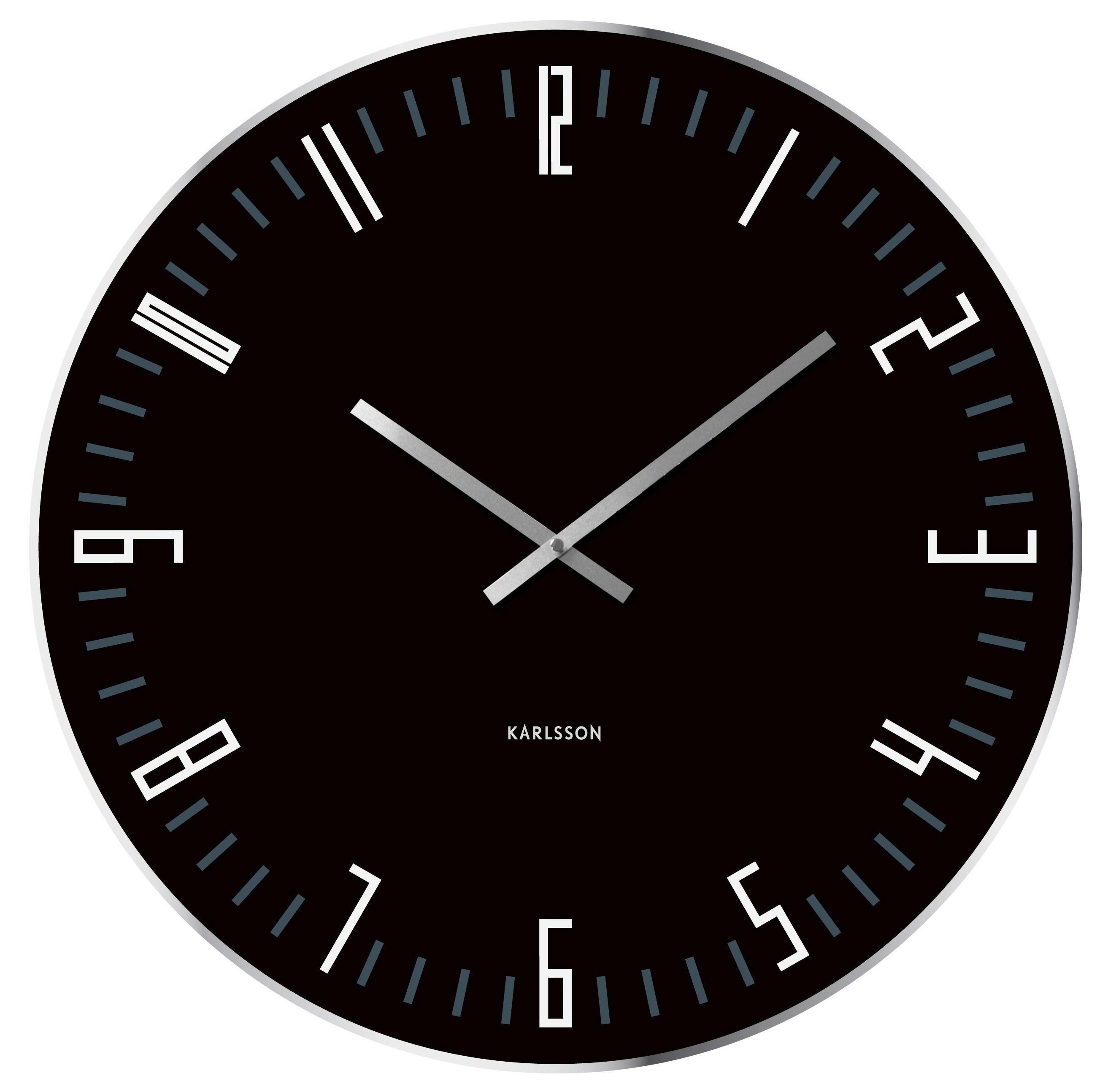 horloge xl noire but mobilier de