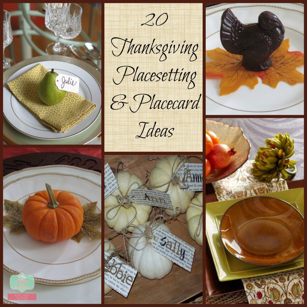 20 Thanksgiving Place Settings and Table Settings Ideas Both Adult and Kid tables  sc 1 st  Pinterest & Thanksgiving place settings | Place setting Thanksgiving and ...