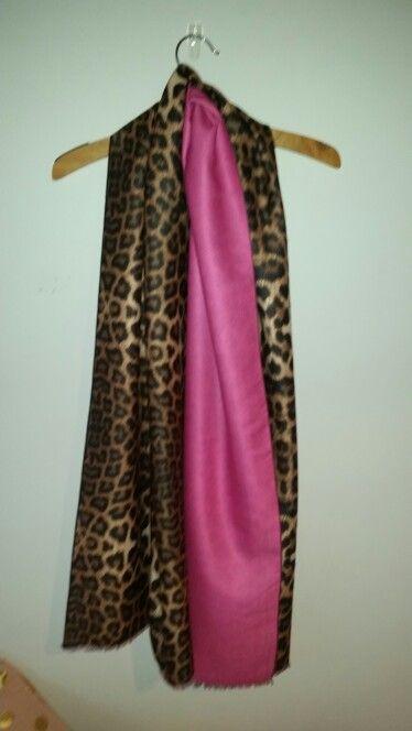 Cashmere lepoard and pink pashmina