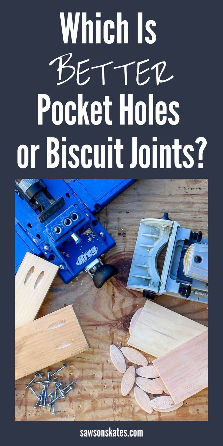 Great comparison of pocket hole joinery vs biscuit joinery! #sawsonskates