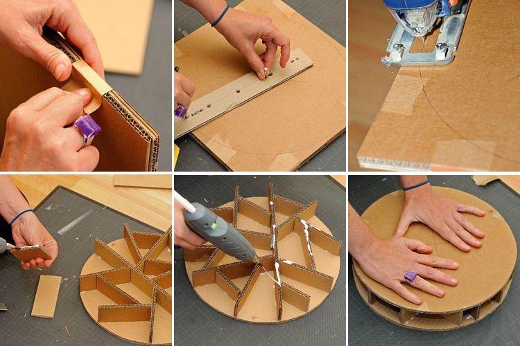 Comment Fabriquer Un Pouf En Carton Recyclage Carton Comment Fabriquer Un Objet En Carton