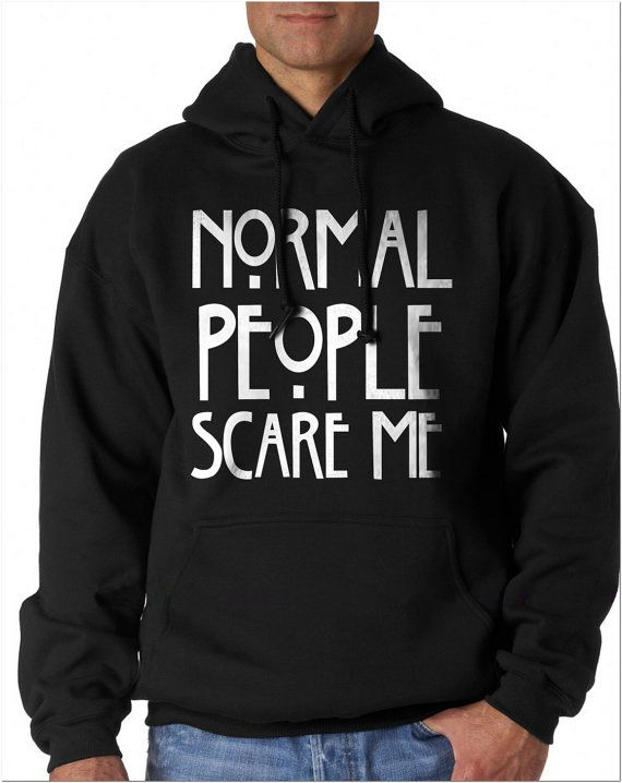 Normal People Scare Me Unisex Pullover Hoodie S to by geekspride
