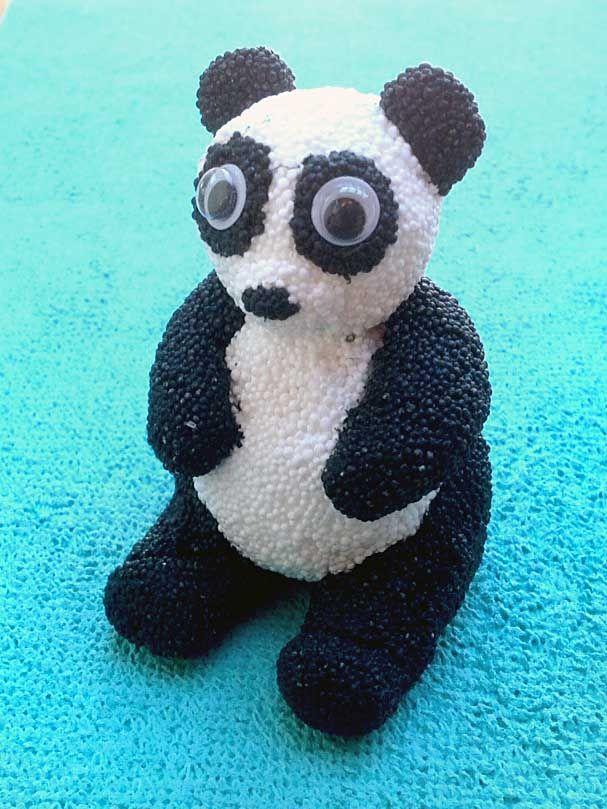 wolkenschleim foam clay figuren und schmuck basteln panda wolkenschleim foam clay. Black Bedroom Furniture Sets. Home Design Ideas