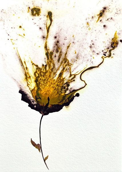 Art yellow flower floral painting modern home my abstract art yellow flower floral painting modern home decor abstract art acrylic on cotton ragg paper in floral and flower paintings by catherine jeltes mightylinksfo