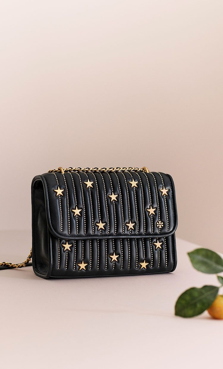 01ed2aac2c1 Tory Burch Fleming Star-Stud Small Convertible Shoulder Bag