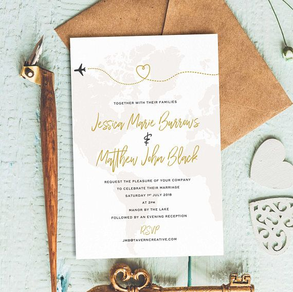 Destination Wedding Etiquette Gifts: Sample Listing: Invite Your Loved Ones To The Big Day In