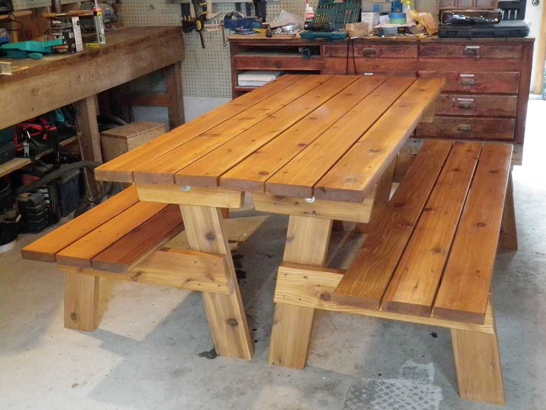 Convertible Picnic Table Bench Plans #PT