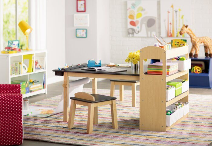 Emilio Kids 3 Piece Arts And Crafts Table And Chair Set In 2020