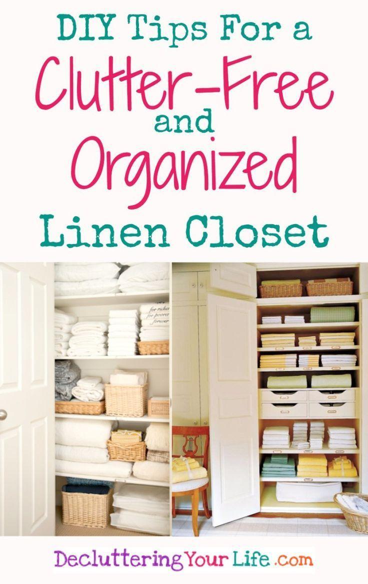 Diy linen closet decluttering and organization ideas linen closet
