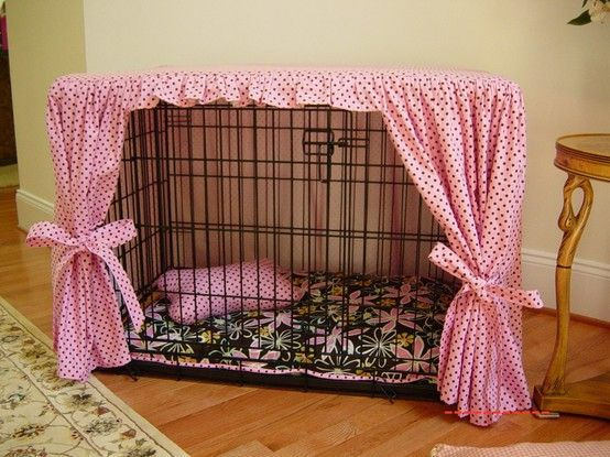 Very cute way to dress up a kennel. I crate my dog when I leave so the kennel stays in view at times. Decorating it keeps it from being such an eye sore.