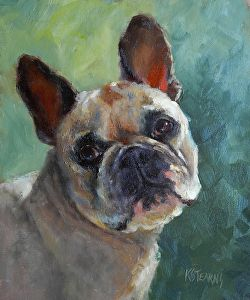 """"""" Cozy D. Dog"""" by Katie Stearns  ~ 12"""" x 10"""""""