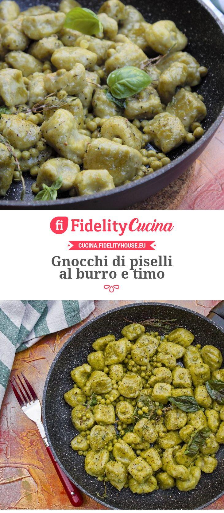 Gnocchi di piselli al burro e timo | Cucina | Pinterest | Gnocchi ...