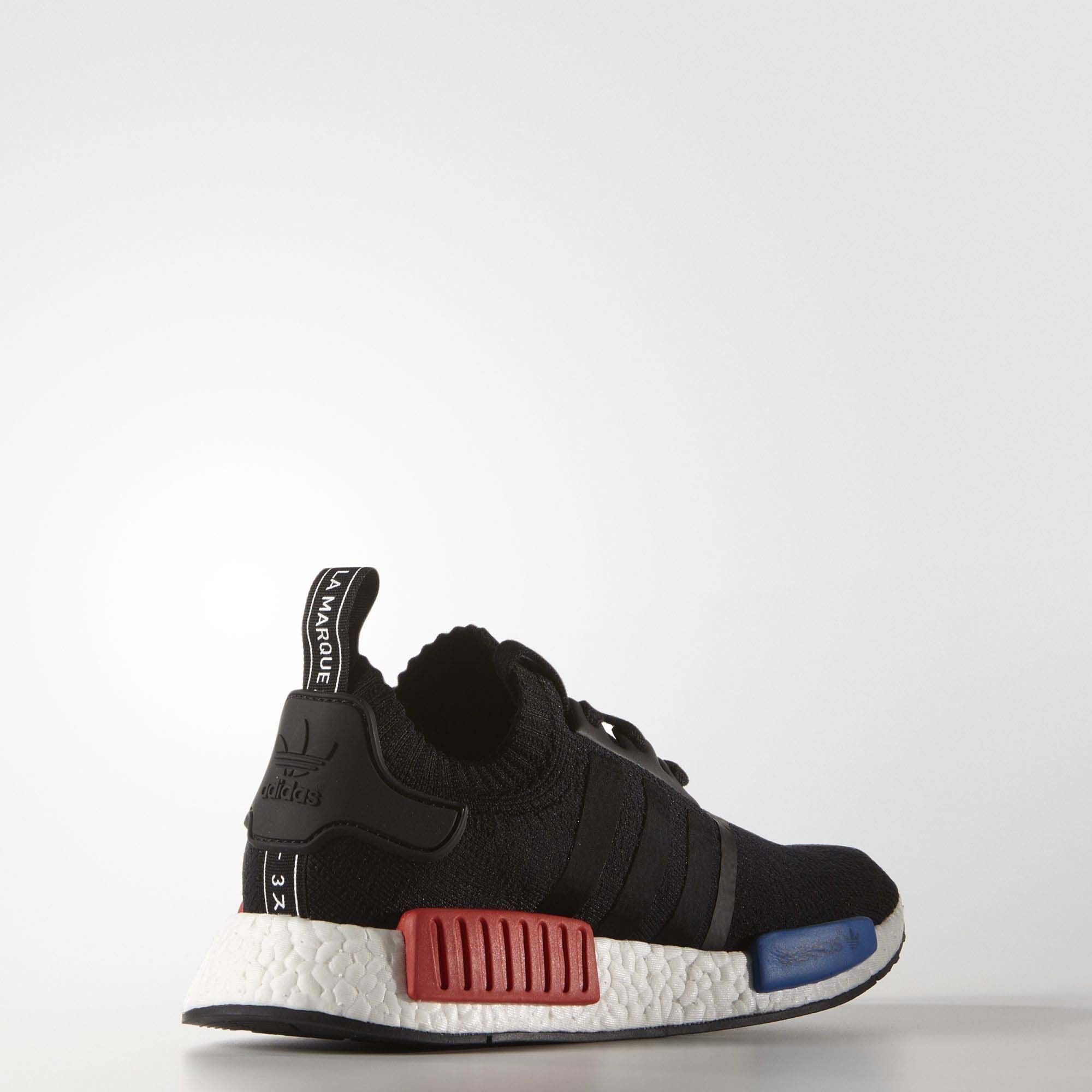 abb58bc56a0 Adidas NMD R1 Primeknit - Mens Core BlackCore BlackLush Red0 on the lookout  for limited offer